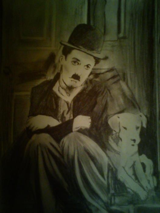 Charlie Chaplin por Evie